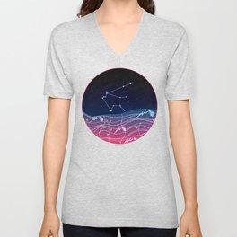 Aquarius Zodiac Constellation Design Unisex V-Neck