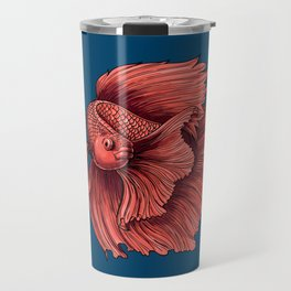 Coral Siamese fighting fish Travel Mug