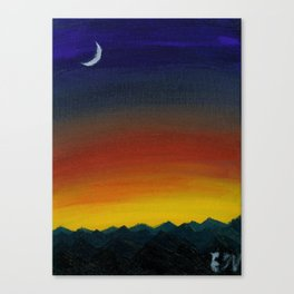 Hello Moon Canvas Print