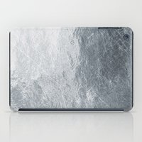 silver iPad Cases featuring Silver by Patterns and Textures