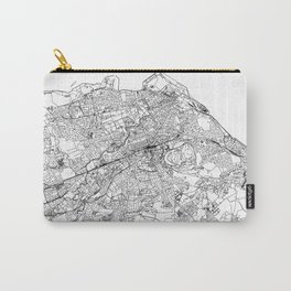 Edinburgh White Map Carry-All Pouch