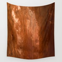 copper Wall Tapestries featuring copper by gaus