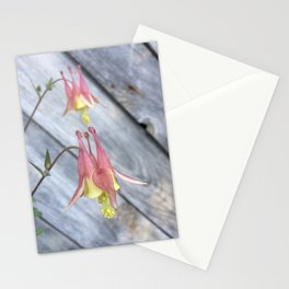wild columbine by the barn Stationery Cards