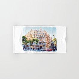 La Pedrera Barcelona Hand & Bath Towel
