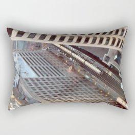 Chicago El Train Tracks Original Color Photo Rectangular Pillow