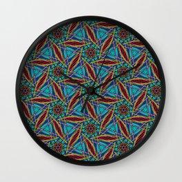 Sliced Petals Wall Clock