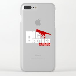 Big Brother-Saurus Cute Older Sibling Dinosaur Clear iPhone Case