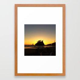 Seaside Silhouette  Framed Art Print