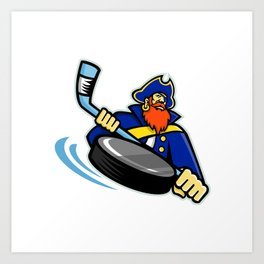 Swashbuckler Ice Hockey Sports Mascot Art Print