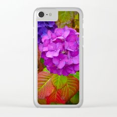 Holy Hydrangea III Clear iPhone Case