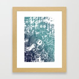 Inky Shadows - Blue edition Framed Art Print