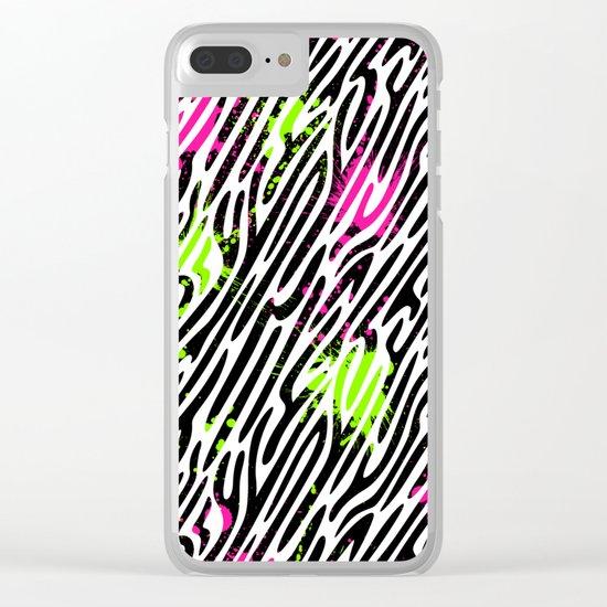 Wild Zebra Print Clear iPhone Case