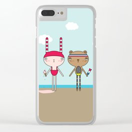 MOOKii Co. BEACH BUNNY & BRUNO BEAR Clear iPhone Case