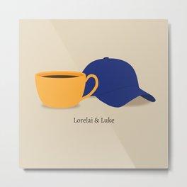 Lorelai & Luke Metal Print