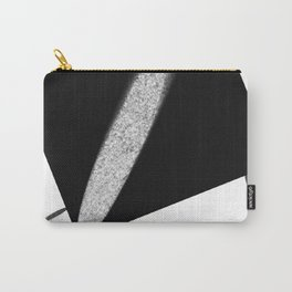 White Flash on Black Carry-All Pouch