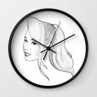 iggy azalea Wall Clocks featuring IGGY AZALEA by marcsaisofficial