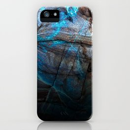 Deep Blue Marble - Ombre black iPhone Case