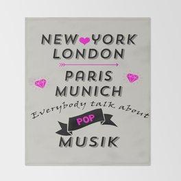 Pop Musik  Throw Blanket