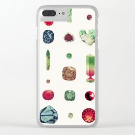 Precious Stones Clear iPhone Case