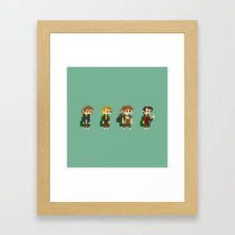 Frodo, Sam, Pippin and merry Framed Art Print