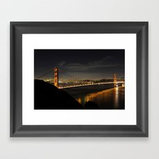Golden Gate Bridge @ Night Framed Art Print