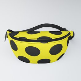 Black Circles on Yellow Background Fanny Pack