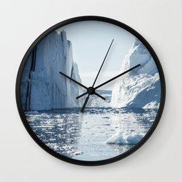Disko Bay giants Wall Clock