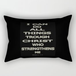 Philippians 4:13 Rectangular Pillow
