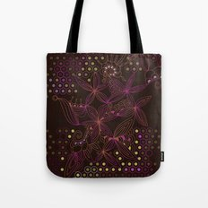 Brown, orange and purple tangle Tote Bag