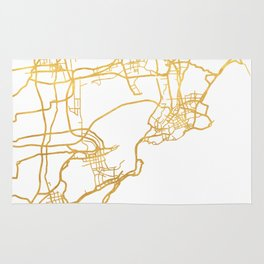 QINGDAO CHINA CITY STREET MAP ART Rug