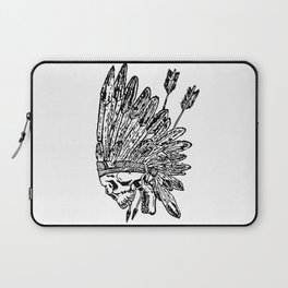 Indian chief skull head Laptop Sleeve