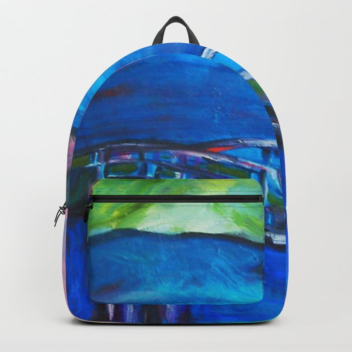 Heart Bridge #society6 #decor #buyart Inspired by the stunning Kintai Bridge in Yamaguchi Prefecture Backpack