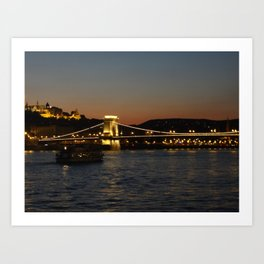 Chain Bridge Art Print