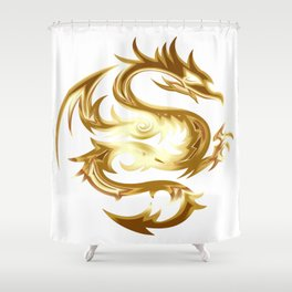Dragon animal beast creature Shower Curtain