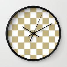 Checker (Sand/White) Wall Clock