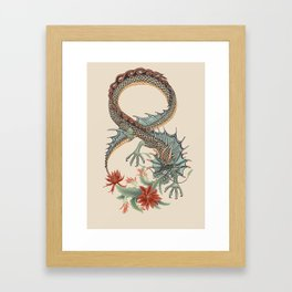 Botanical Flower Dragon 8 Framed Art Print