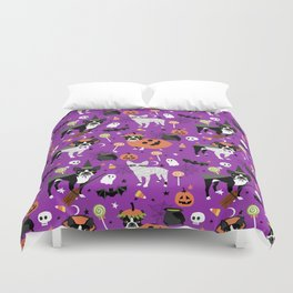 Boston Terrier Halloween - dog, dogs, dog breed, dog costume, cosplay cute dog Duvet Cover