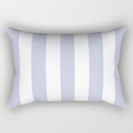 Light periwinkle blue - solid color - white vertical lines pattern Rectangular Pillow