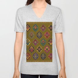 Moroccan tapis traditional Unisex V-Neck