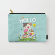 Cat on a bike Carry-All Pouch