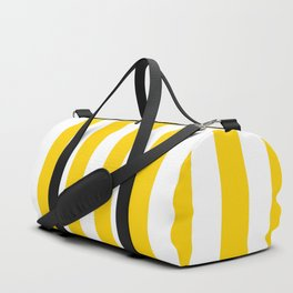 Stripe Texture (Yellow & White) Duffle Bag