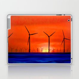 Windmills in the Sea Laptop & iPad Skin