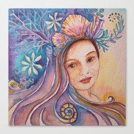 Hawaiian Mermaid, Local Girl Canvas Print