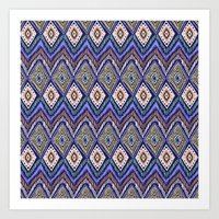 ikat Art Prints featuring IKAT by Isabella Salamone