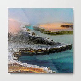 Colorful Hot Spring Yellowstone  Metal Print
