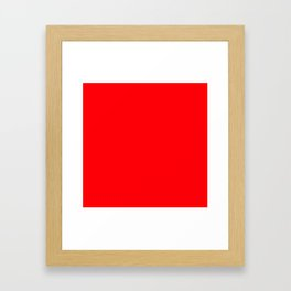 Christmas Red Solid Cheery Red Framed Art Print