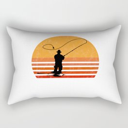 Vintage Fly Fishing Angler Gift Rectangular Pillow
