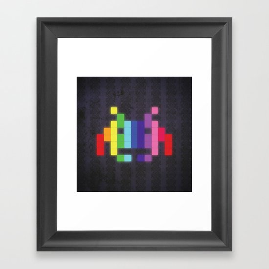Face The Rainbow Framed Art Print