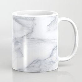 White Marble Carrara Texture Coffee Mug