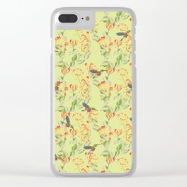 Hummingbirds on Honeysuckle Clear iPhone Case